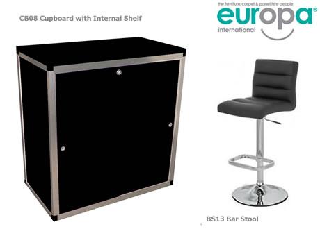 3' Lockable counter cupboard wth shelf