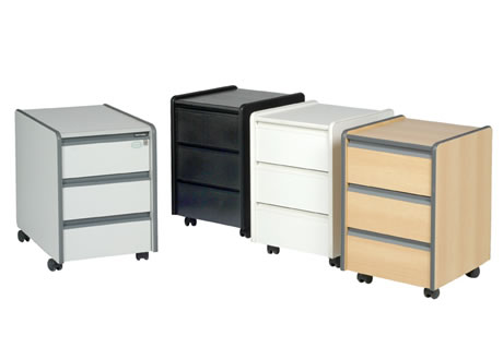 3-drawer pedestal (not lockable)