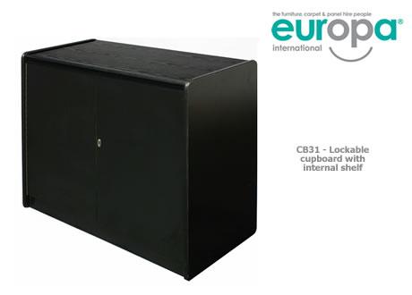 Standard lockable cupboard with shelf
