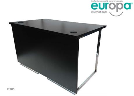 Kouros 4' chrome legged desk