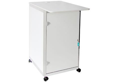 White and Silver Computer Plinth POD