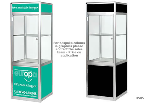 Glass Showcase Cabinet - Lights & lockable