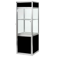 Glass Showcase Cabinet - Lights & lockable hire