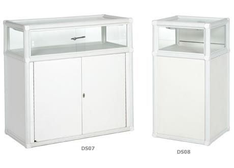 0.5m Glass Display Showcase - Lights & lockable