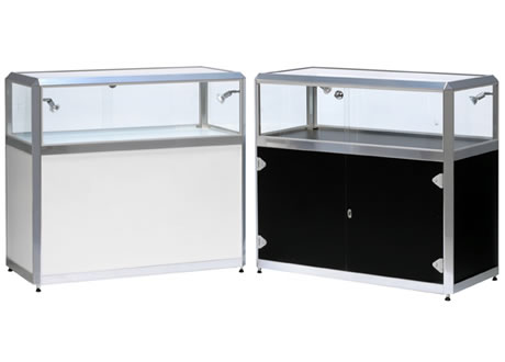 Glass Jewellery Cabinet - Lights & lockable