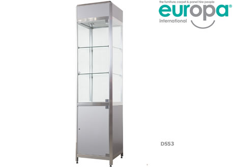 Tall Glass Cabinet with 2 Shelves