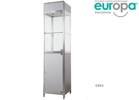 Tall Glass Cabinet with 1 Shelf
