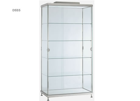 Double Glass Host Showcase Cabinet