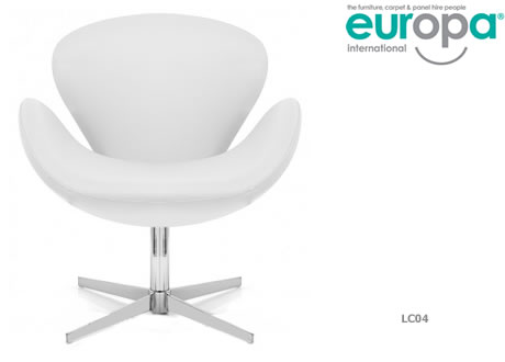 White Swan Chair Leather
