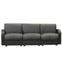 Buckingham three-seater Leather sofa hire