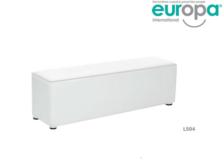 White Faux Leather Hire Bench