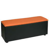 Faux Leather Cube Bench - Colours to order hire