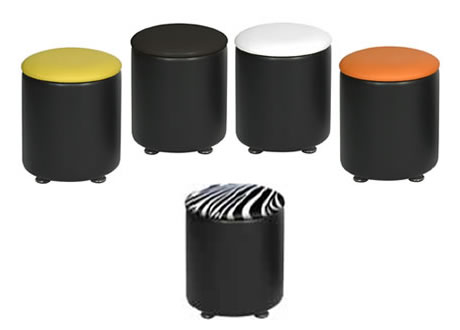 Drum Faux Leather Stool