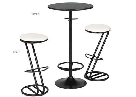 Zeta black frame bar stool