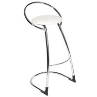 White Bar Stool & Chrome Frame hire