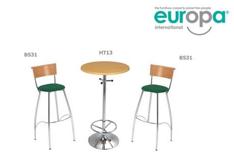 Eros beech backed bar stool