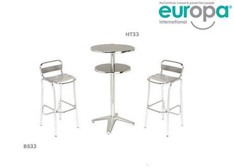 Alfresco aluminium bar stool