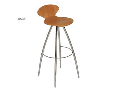 Athena backed bar stool