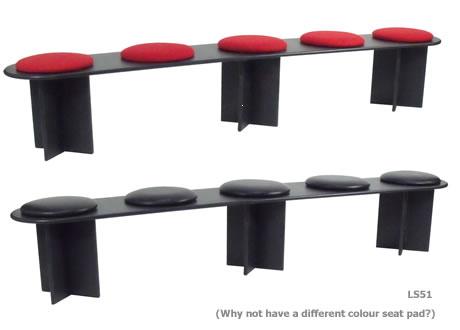 Black Bench Seating