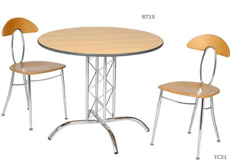 Apollo 3' chrome base round table