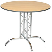 Apollo 3' chrome base round table hire
