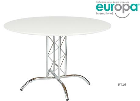 White Round Table 3'9''