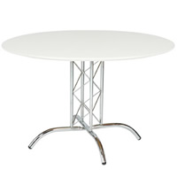 White Round Table 3'9'' hire
