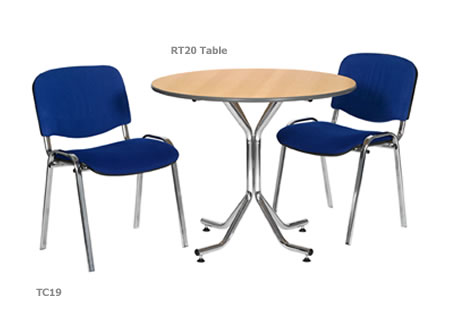 Artemis 3' chrome legged round table