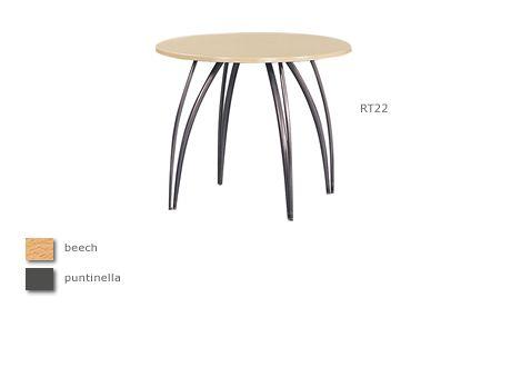 Sol 3' gunmetal legged round table