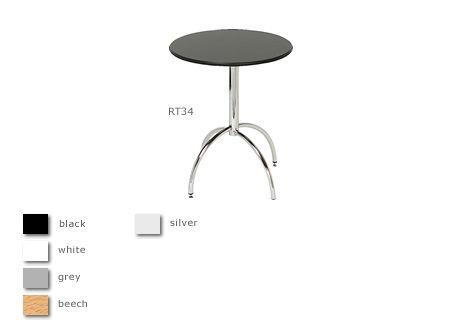 Bacchus 2' chrome frame round table
