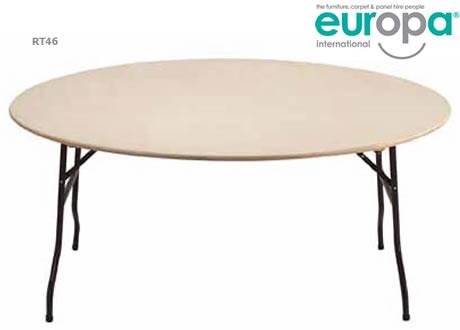 6' Round Folding Table