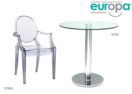 Small Glass Cafe Table
