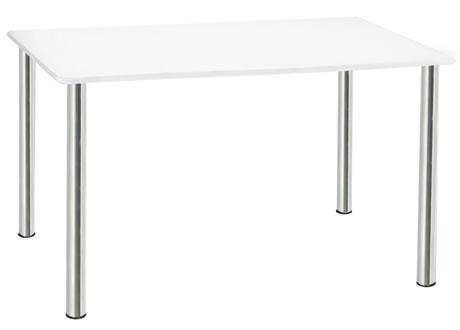 Jupiter 4' chrome legged rectangular table