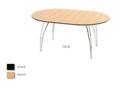 Apollo chrome oval meeting table (seats 4-6)