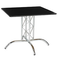 2'6'' Square Table with Truss Leg hire
