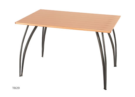 Gunmetal Meeting Table