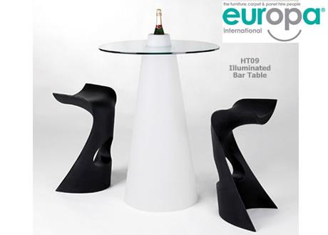 Illuminated Bar Table