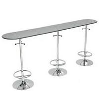 Pourshins High chrome bar table hire