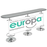 Bespoke HT20 Bar Table Graphic Only hire