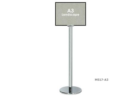 A3 Landscape Sign post - Velcro Compatible