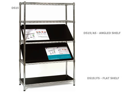 Chrome 5 Shelf Display Stand - Shelves seperate