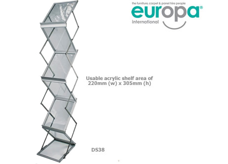 A4 Zed up Brochure Stand
