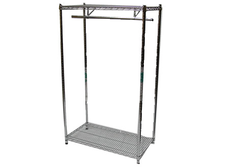 Chrome Rail Leather Display Stand