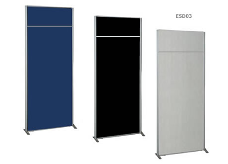 Free standing panel room divider