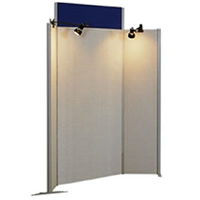 Winged display panel (spotlights seperate) hire