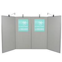 4 Panel Display Boards - lighting separate hire