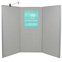 3 Panel Display Boards - lighting separate hire
