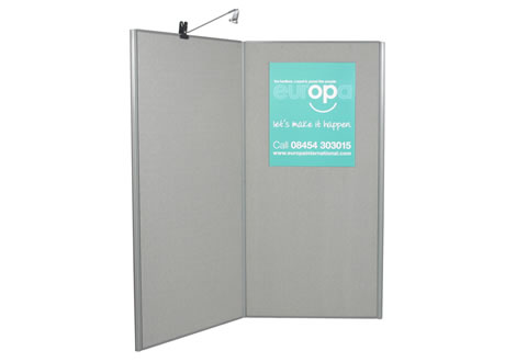 2 Panel Display Board - lighting separate