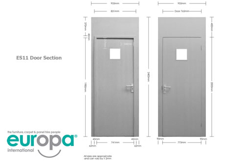 Lockable Door - 3 Lever Lock