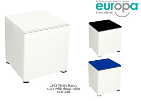 White Cube Stool
